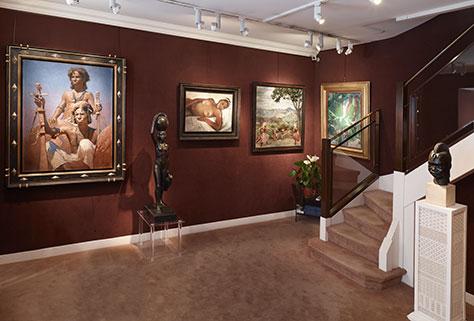 Intérieur de la galerie Ary Jan basée à Paris 8