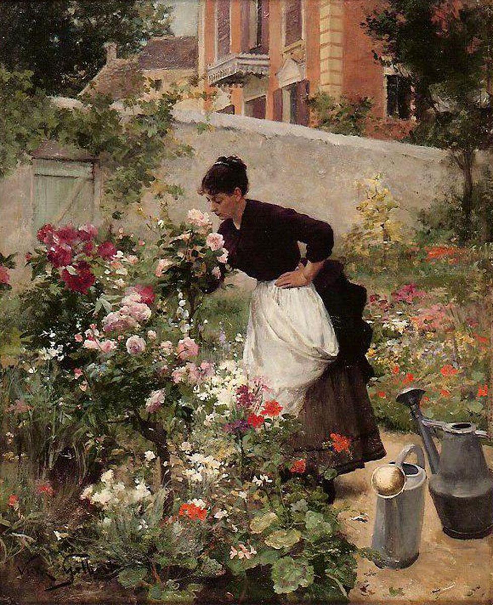 Victor gabriel gilbert galerie ary jan for Bricoler dans le jardin