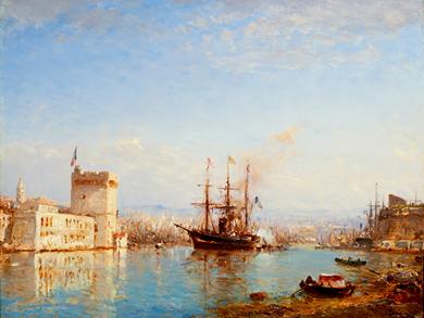 Le port de Marseille par le peintre Félix Ziem
