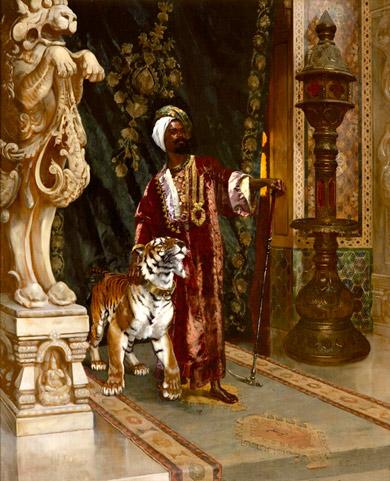 Une peinture représentant un personnage important de Turquie