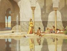 Sultane au Patio de los Arrayanes, Alhambra