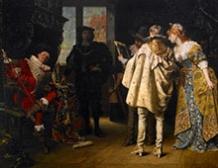 Seigneurs flamands visitant l'atelier de Rembrandt