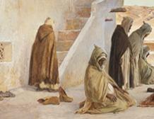 La prière, à Bou-Saada, Algérie
