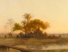 Vue prise à Birket-el-Sab (Basse-Égypte)