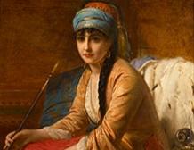 Femme turque au Chibouk