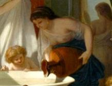 Jeunes femmes au bain