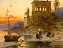 Le Kiosque de Trajan au bord du Nil, Egypte