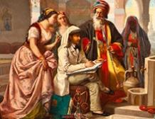 La visite du peintre à Damas, Syrie
