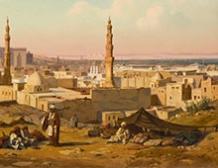 Campement d'Arabes devant le Caire